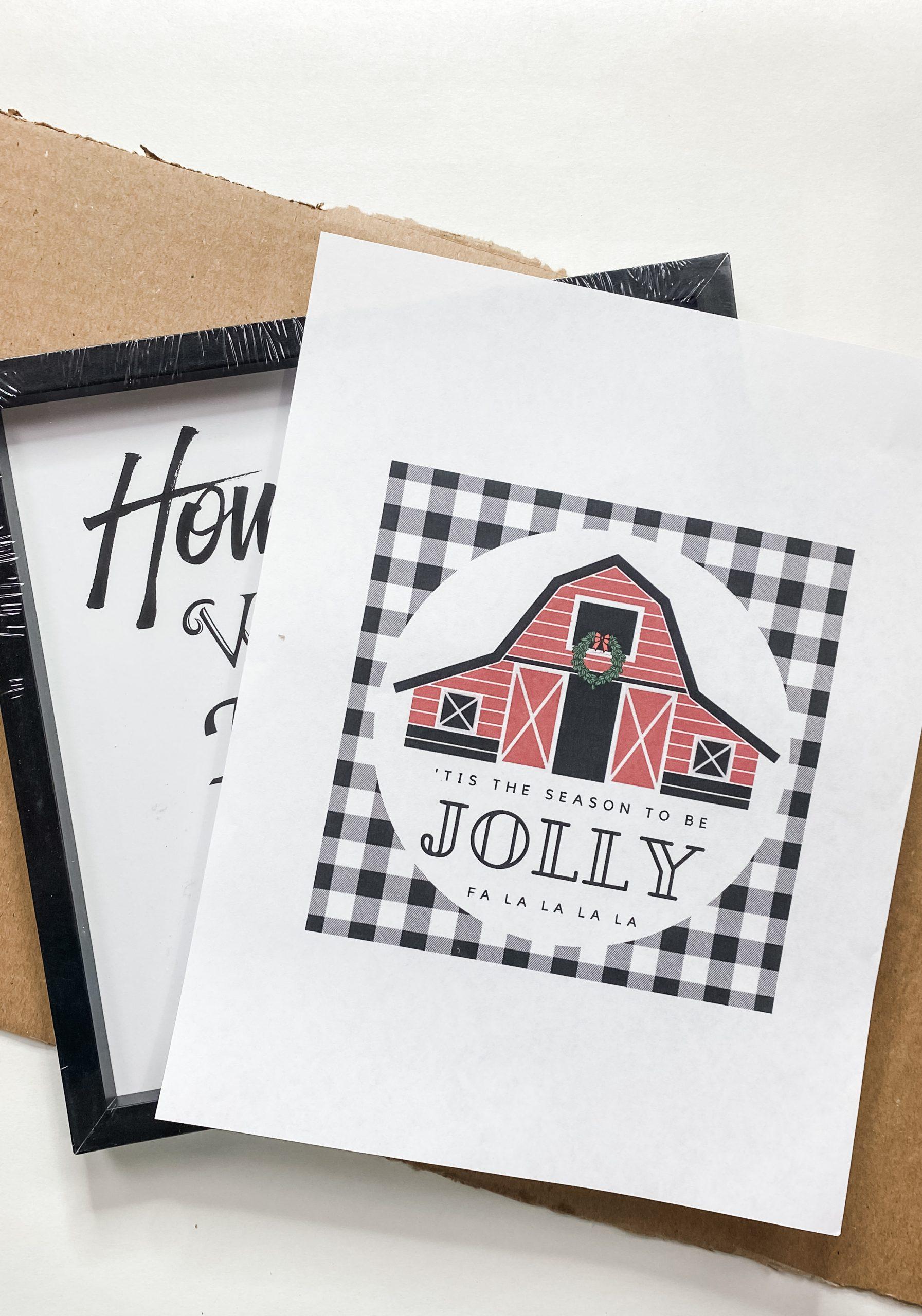 Jolly Farmhouse Printable Christmas Decor DIY