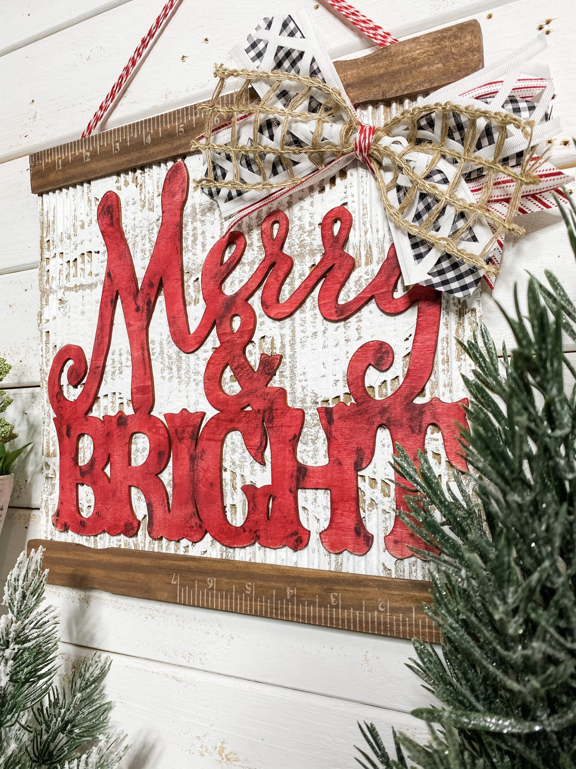 merry and bright cardboard diy