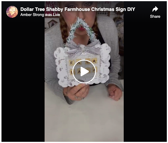 Dollar Tree Shabby Farmhouse Christmas Sign DIY