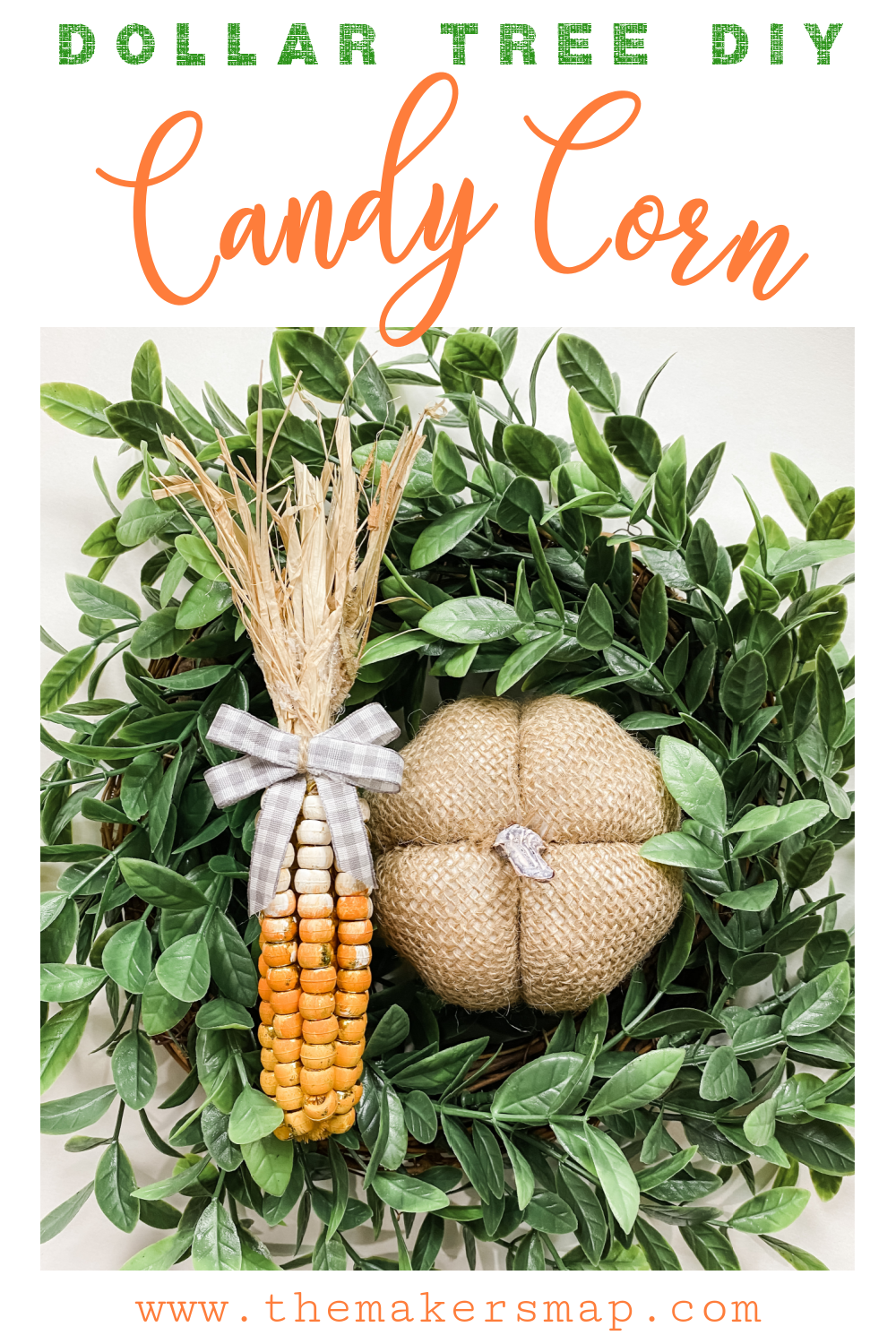 Make a Dollar Tree DIY Candy Corn Fall Decor