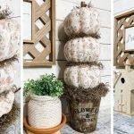 Make a Dollar Tree Fall Foam Pumpkin Topiary DIY.