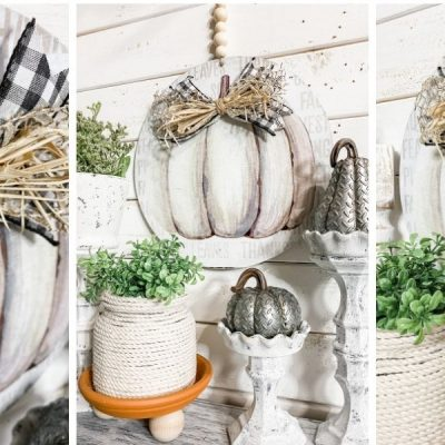 Dollar Tree Fall Pumpkin DIY