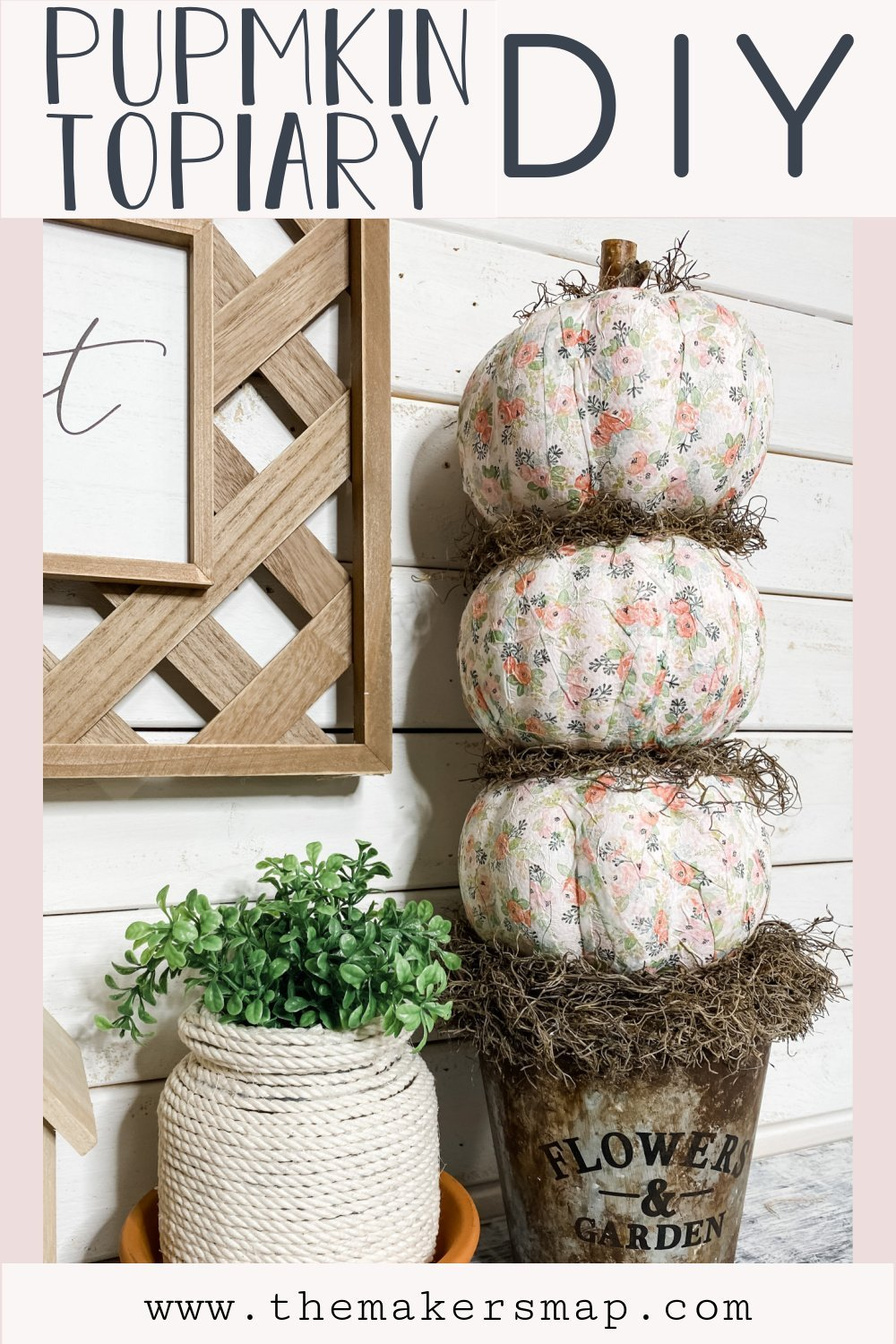 Make A Dollar Tree Fall Foam Pumpkin Topiary Diy