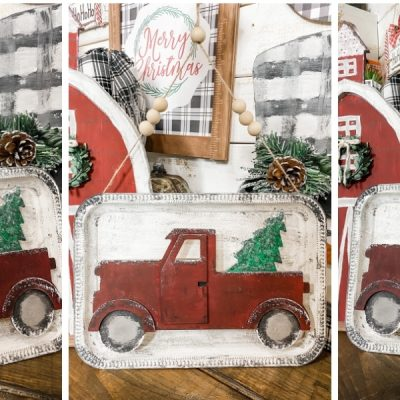 Easy Dollar Tree Christmas Truck DIY