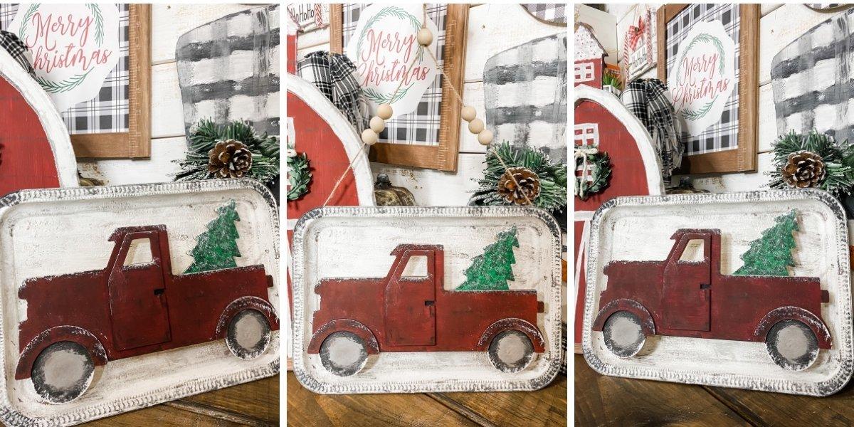 Easy Dollar Tree Christmas Truck DIY