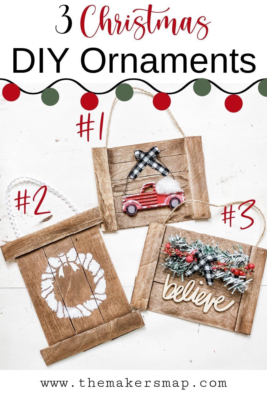 How to Make 3 Christmas DIY Ornaments