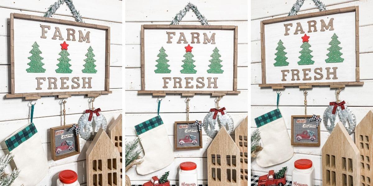 How to Make a $5 Dollar Tree Farmhouse Christmas DIY