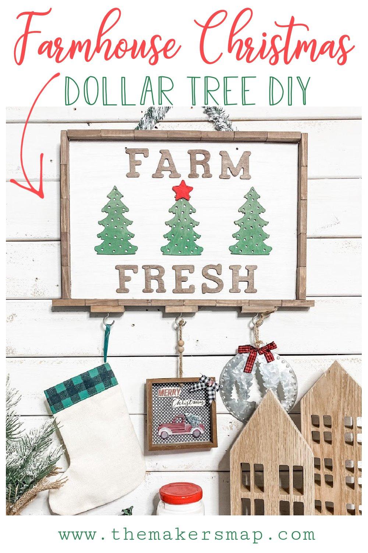 $5 Dollar Tree Farmhouse Christmas DIY