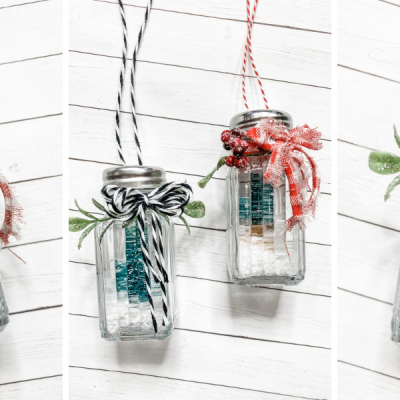 Christmas Salt and Pepper Shaker DIY Ornaments