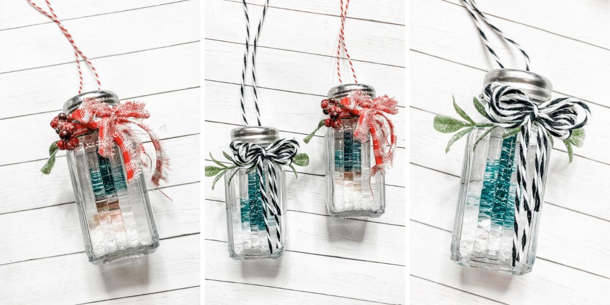 Christmas Salt and Pepper Shaker DIY Ornaments