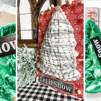 DIY Dollar Tree Mop Head Christmas Tree Sign