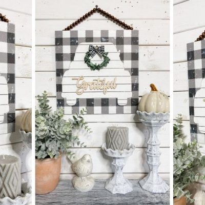 Dollar Tree DIY Buffalo Check Home Decor