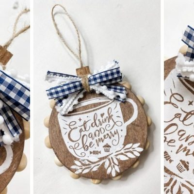 DIY Dollar Tree Christmas Stencil Ornament