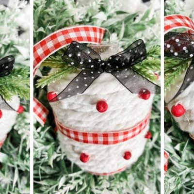 DIY Dollar Tree Mop String Christmas Ornaments