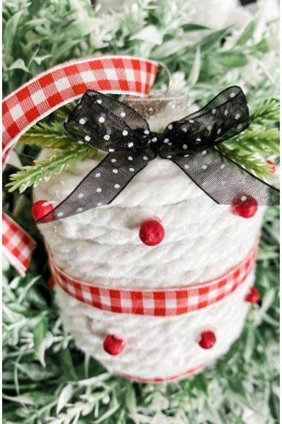 DIY Dollar Tree Mop String Christmas Ornaments