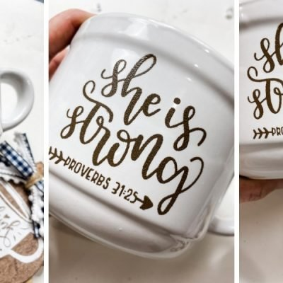 DIY Painted Stencil design on Coffee Mug