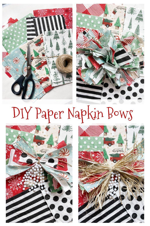 3 Easy DIY paper napkin bows