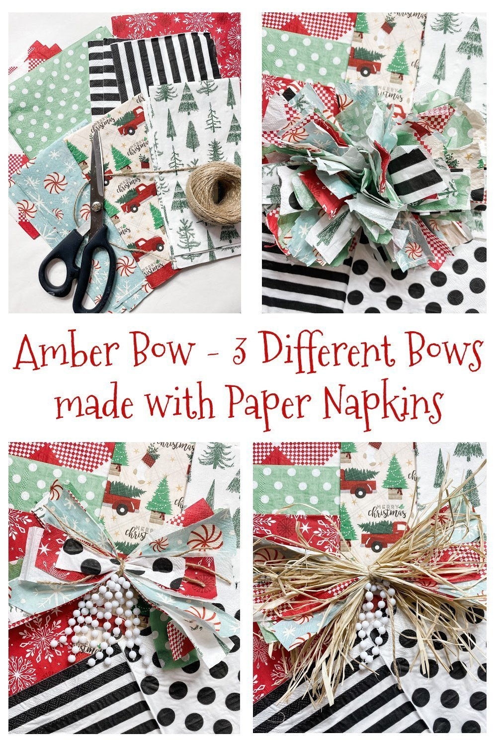 Simple Bow ideas using paper napkins