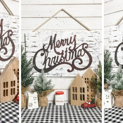 Black and White Chippy Christmas Decor