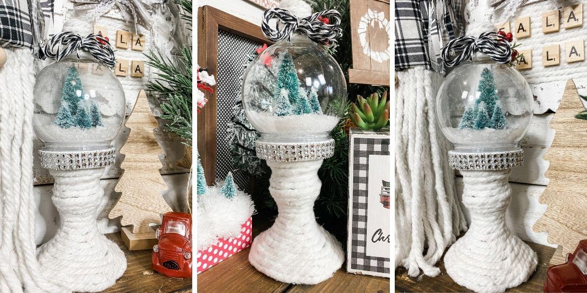 Dollar Tree Candle Holder DIY Snow Globe