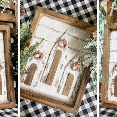 How to Make a Dollar Tree Chippy Church DIY Farmhouse Decor