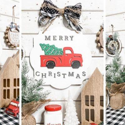 Dollar Tree DIY Red Truck Christmas Decor