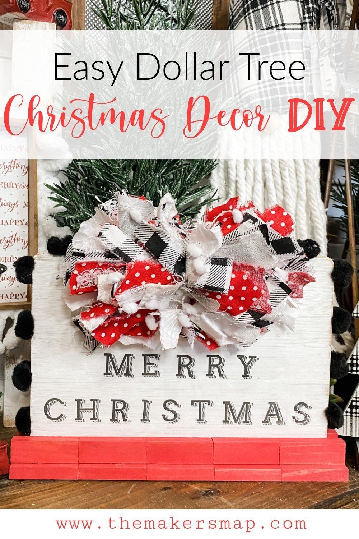 Easy DIY Dollar Tree Cutting Board Christmas Sign