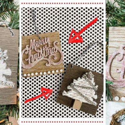 Home Depot Floor Sample DIY Christmas Ornaments