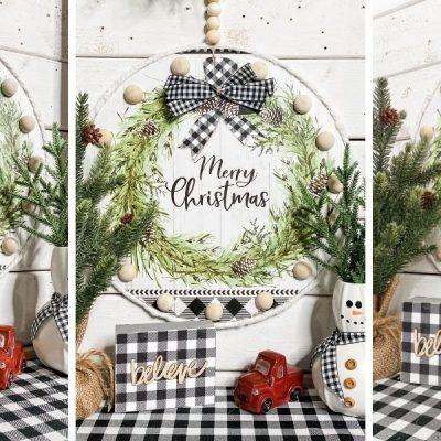How to Decoupage a Dollar Tree Christmas Gift Bag DIY