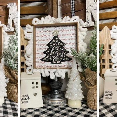 How to Make an Easy Dollar Tree DIY Christmas Sign