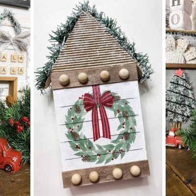 How to Decoupage Wood Christmas DIY Decor Ideas