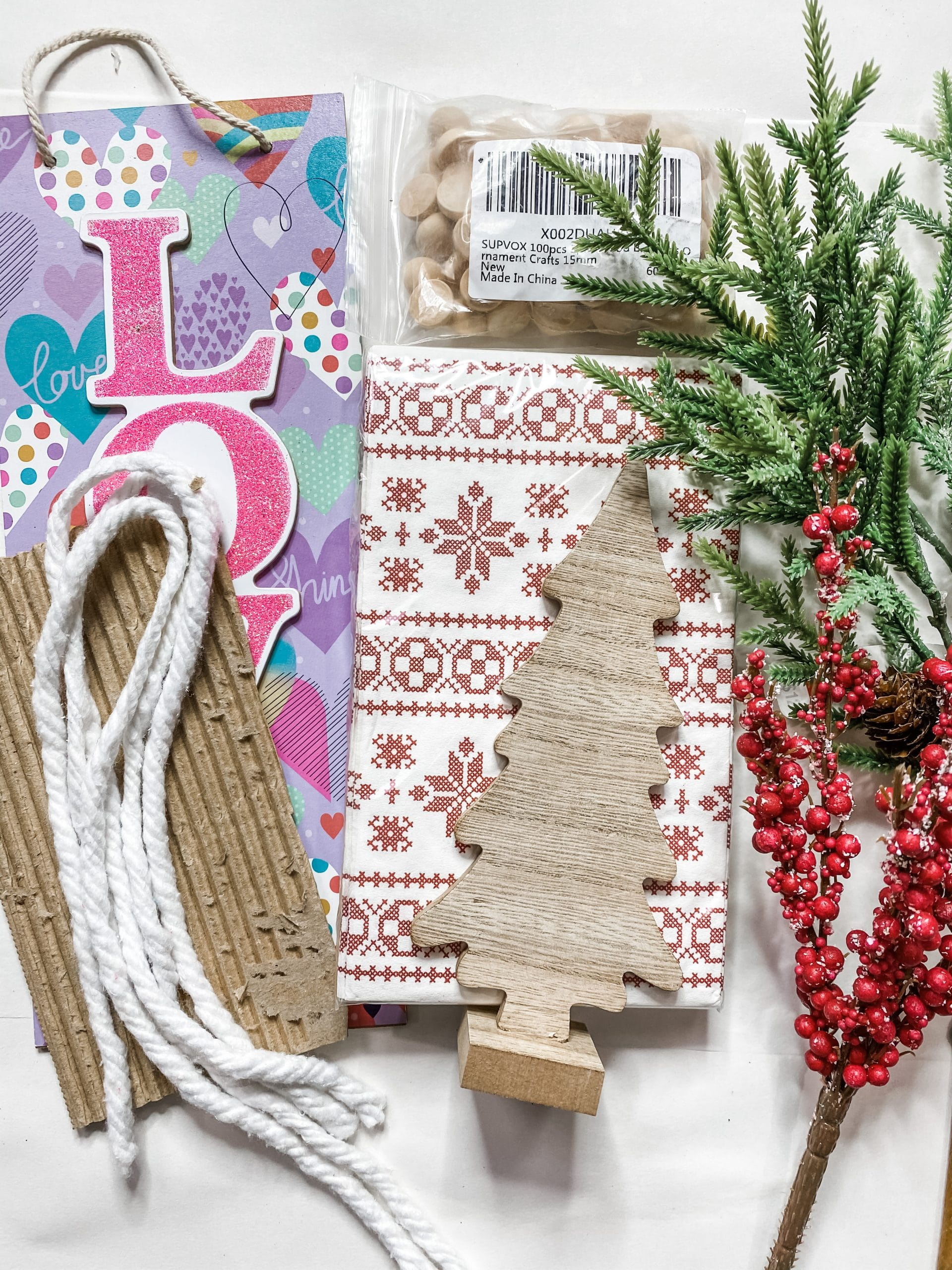 Dollar Tree Christmas Decor DIY With Cardboard