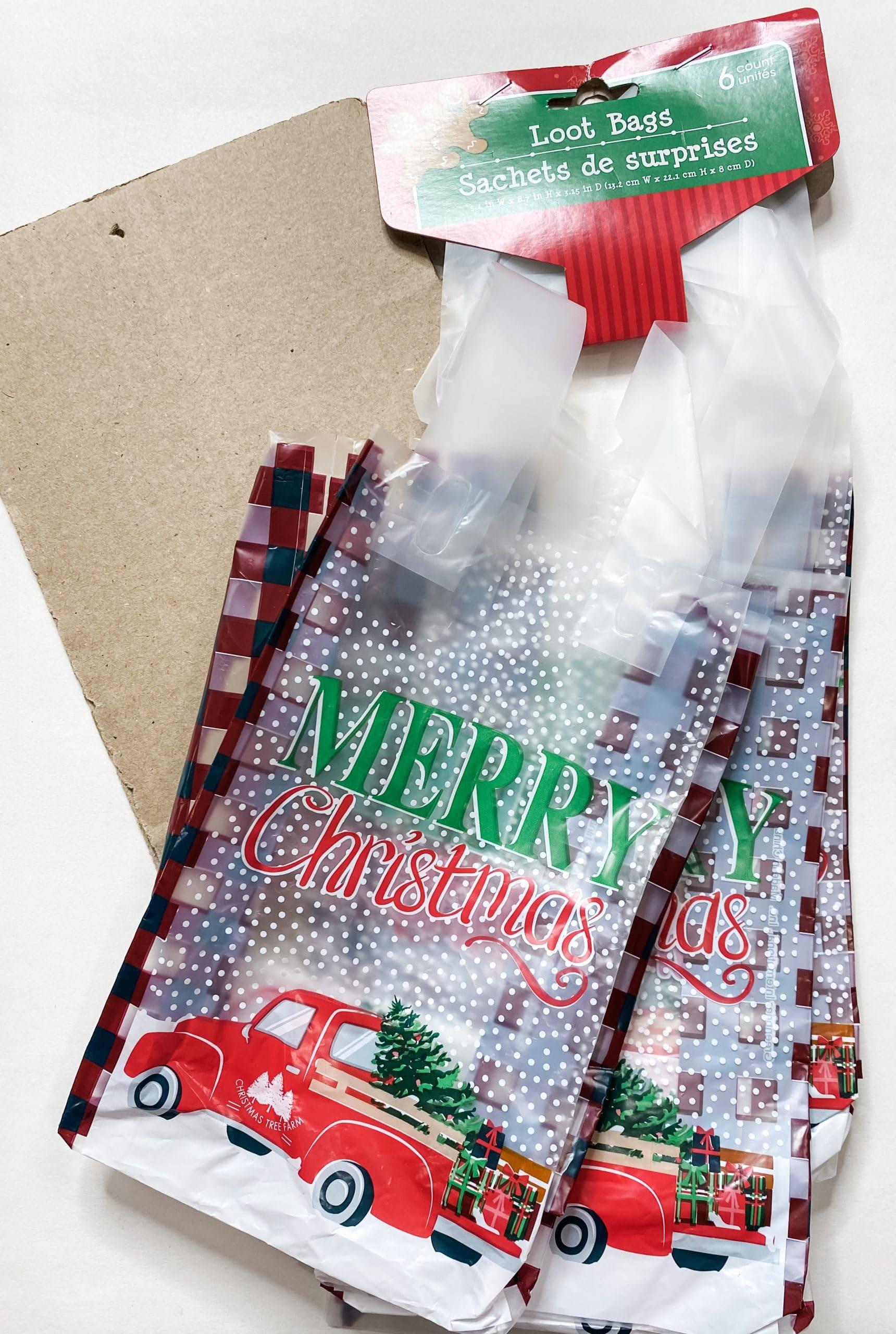 Easy Dollar Tree Christmas Loot Bag DIY Decor
