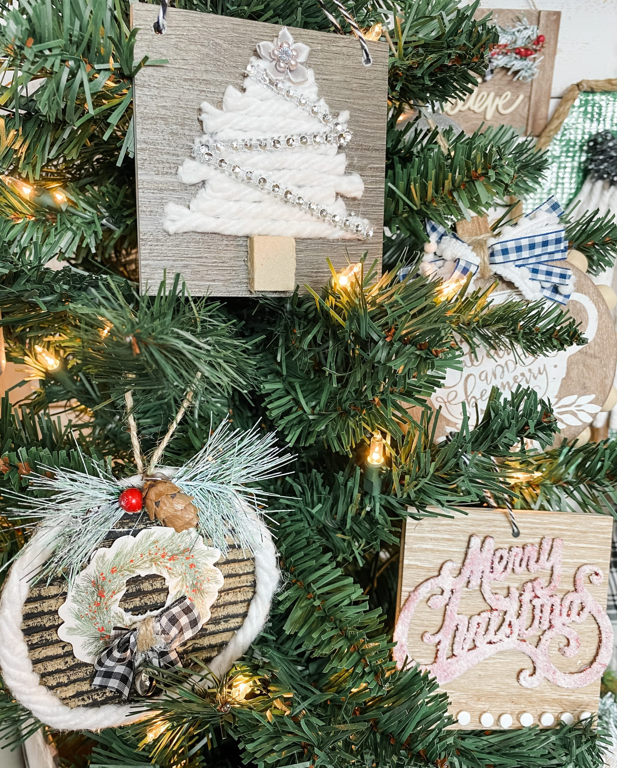 Home Depot Floor Sample DIY Christmas Ornaments