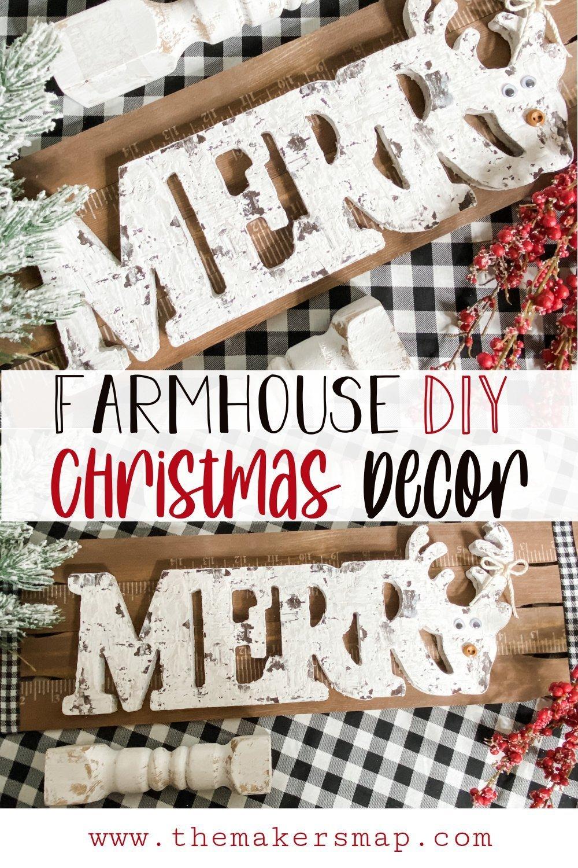 How to Make a Merry Christmas Sign DIY Farmhouse Decor