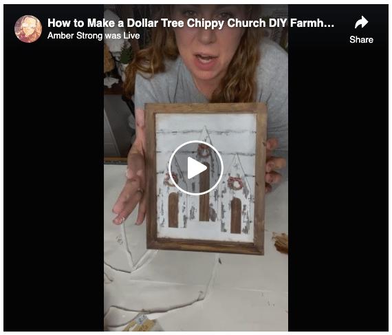 Dollar Tree Chippy Church DIY Farmhouse Decor