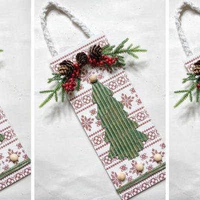 Dollar Tree Christmas Decor DIY With Cardboard