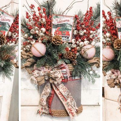 Pinterest Inspired DIY Christmas Wreath Basket