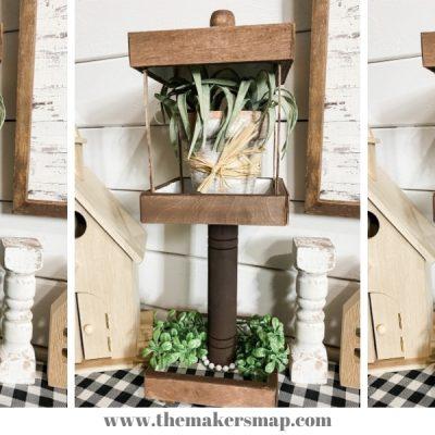 DIY Dollar Tree Tabletop Light Post
