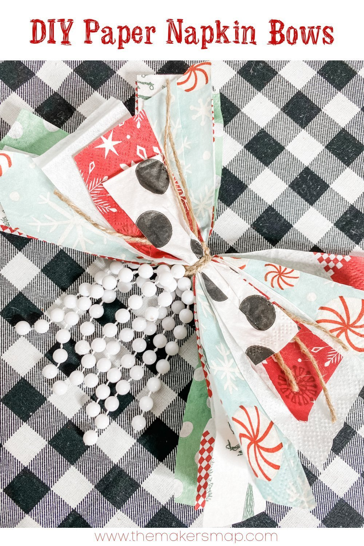 DIY paper napkin bows EASY BOW HACK