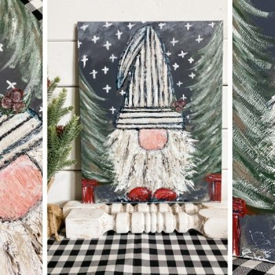 Easy Christmas Canvas Painting