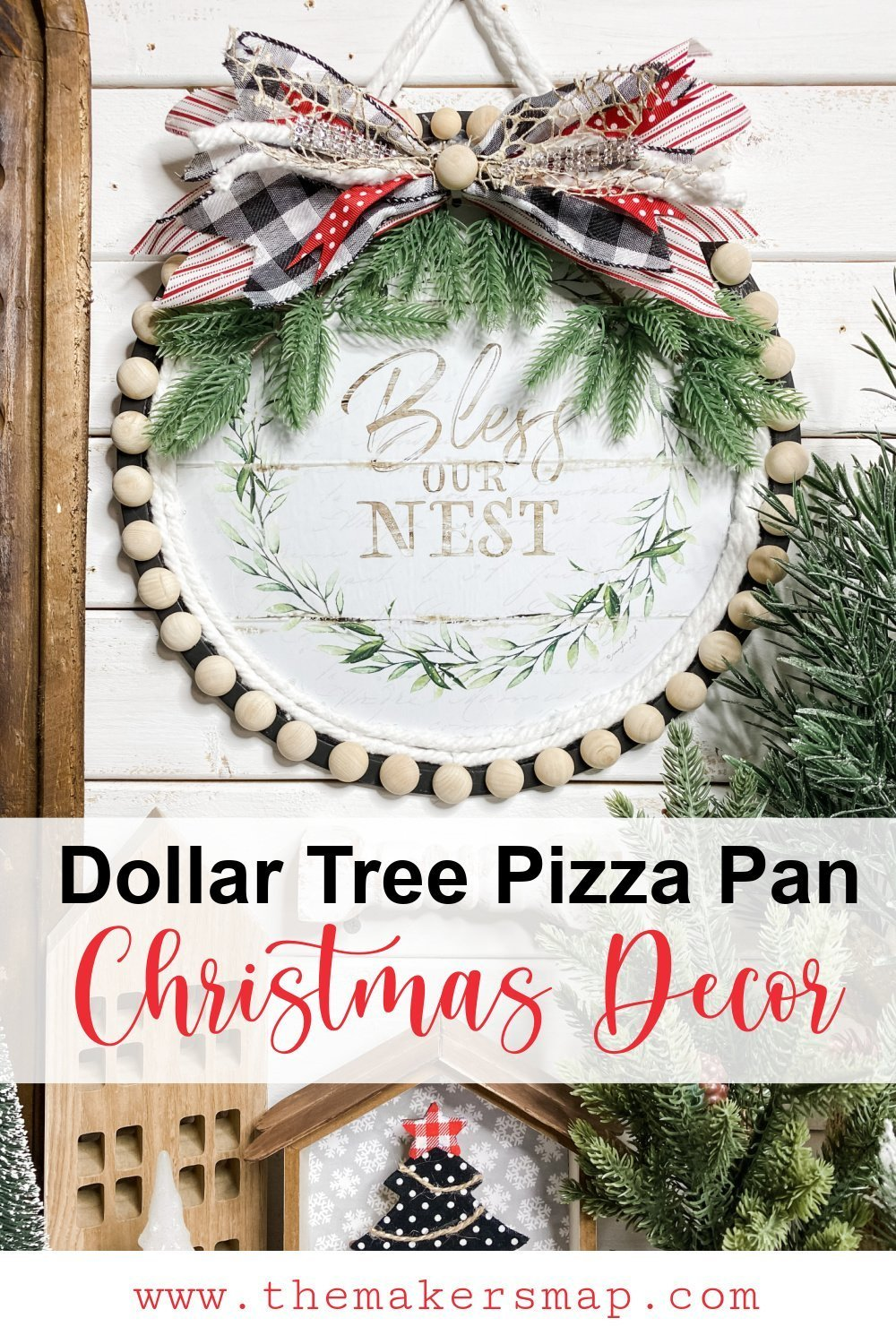 How To Make Pizza Pan Christmas Decor Dollar Tree Diy