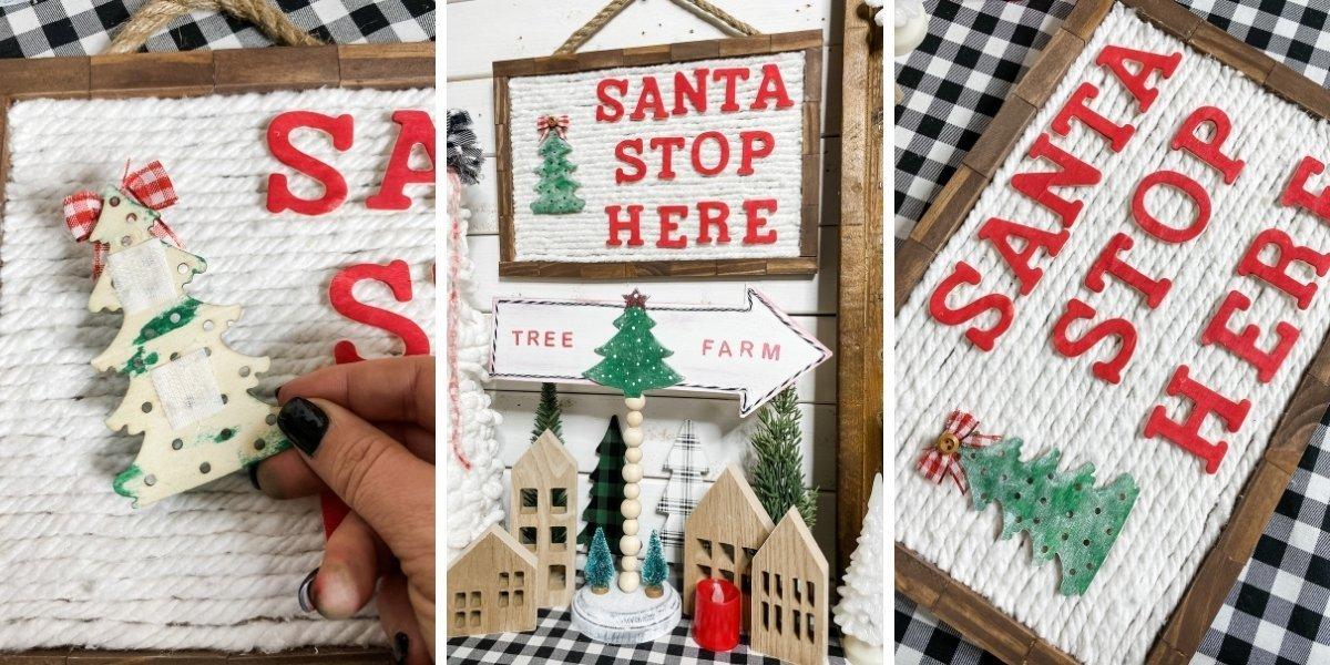 DIY Dollar Tree Mop Head Christmas Letter Board