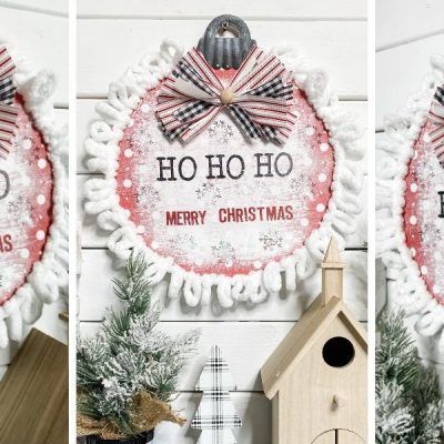 How to Make a DIY Christmas Sign with Loop-It Yarn