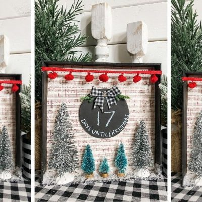 Dollar Tree Chalkboard DIY Countdown to Christmas Sign