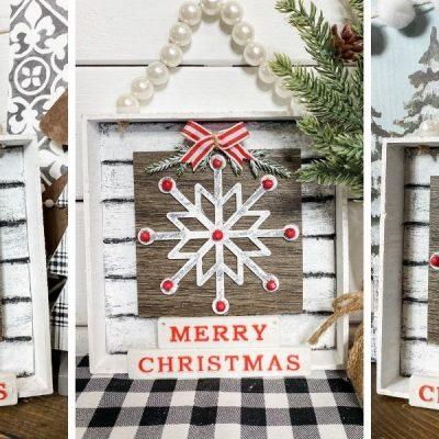 DIY Dollar Tree Snowflake Christmas Decor