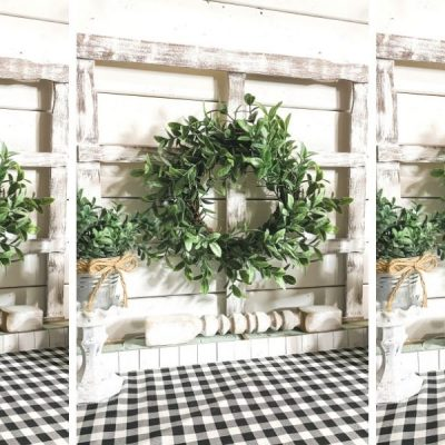 Decorative Window with flower box DIY