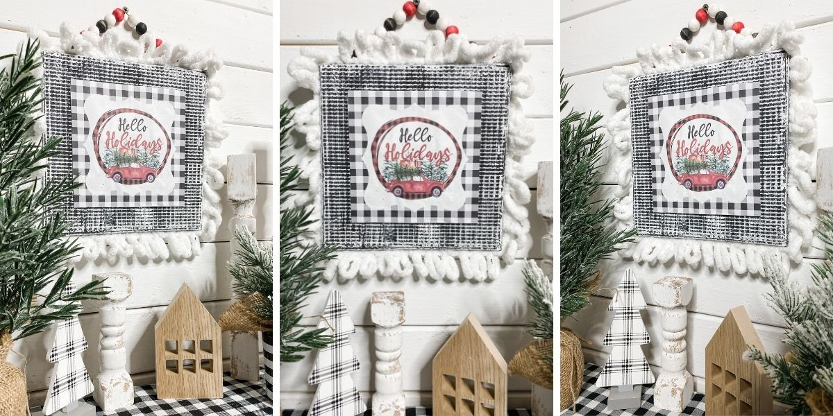 Dollar Tree Cookie Sheet Craft with Free Christmas Printable