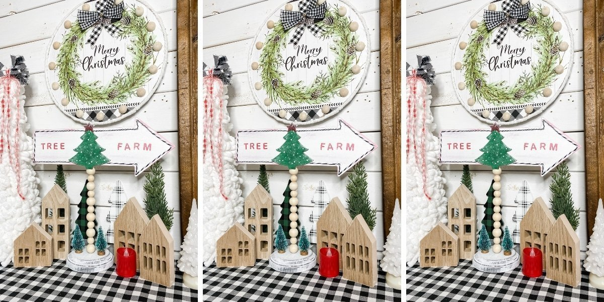 How To Make A Dollar Tree Diy Christmas Tree Farm Sign
