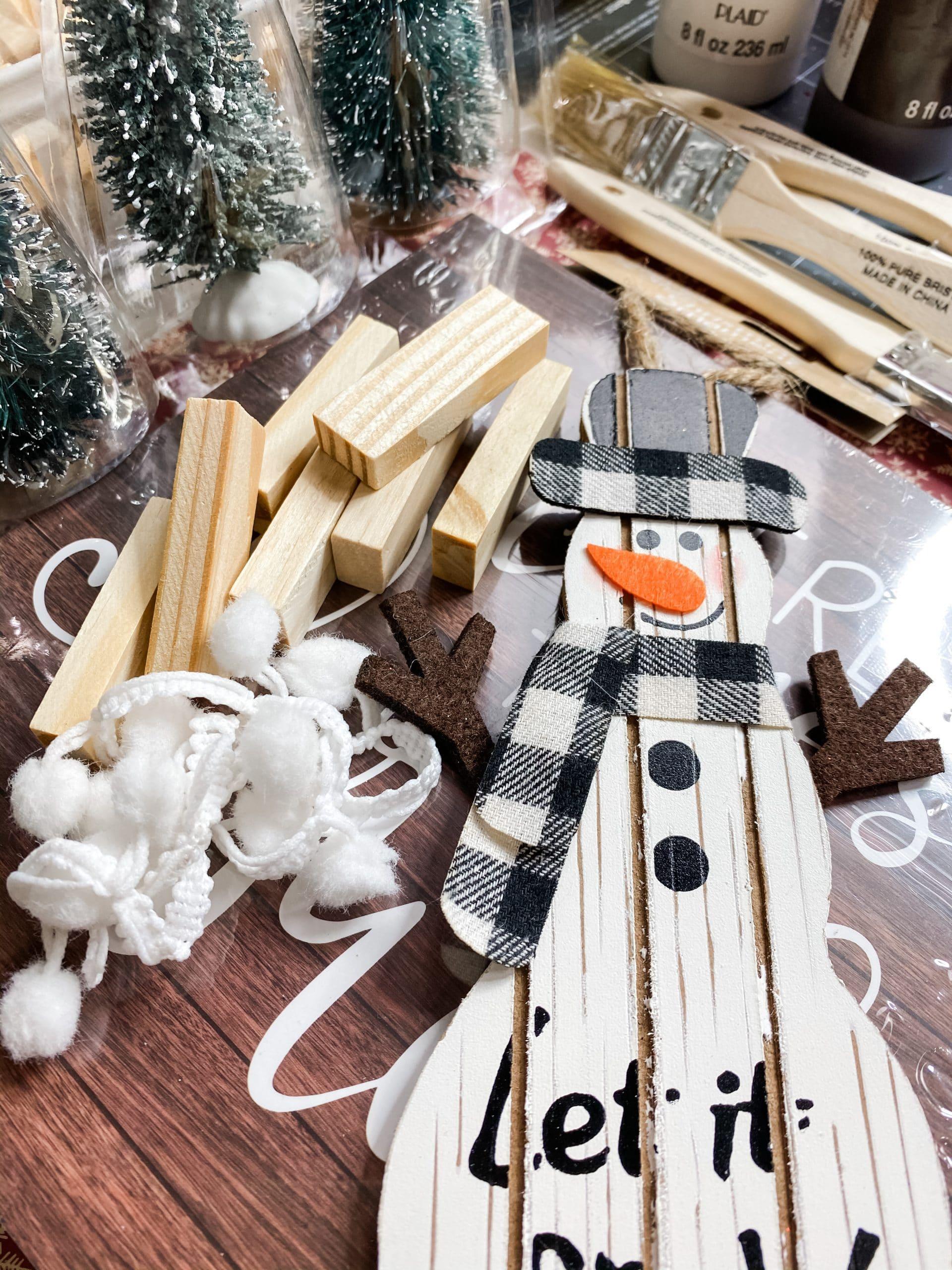 Winter Scene with a Snowman DIY Decor
